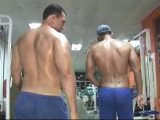 Muscled Latin Guys In Gym