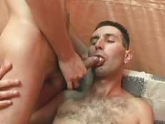 Paul and Keith were done with their kinky blowjob session and are now ready to get their butts fucked. Check out horny gaybear Keith as he lies down and lifts both his legs to get his ass screwed. Hear his loud grunts as he gets his anal with a schlo. Pau