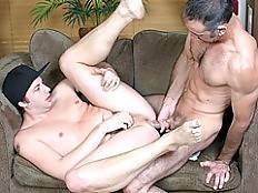 If you love your Silver Daddies with grizzled hair, muscular pecs and huge cocks, then you'll love Steven Richards. He's a veteran here at His First Silver Daddy, and today he's enjoying the smooth skin and tight asshole of Kyle Halliwell. Poor Kyle had a